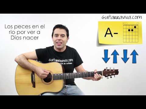como tocar Villancico Los Peces Aprende a tocar en guitarra