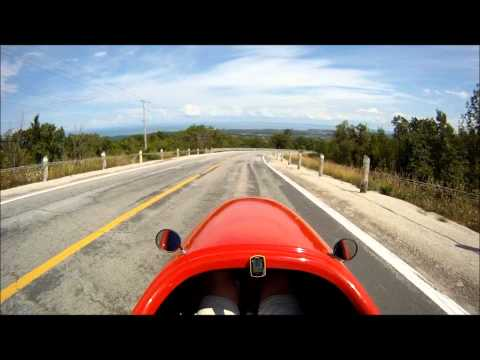 Quest Velomobile - Steep Climb and Fast Downhill