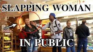 MALE SLAPPING FEMALE IN PUBLIC | SOCIAL EXPERIMENT