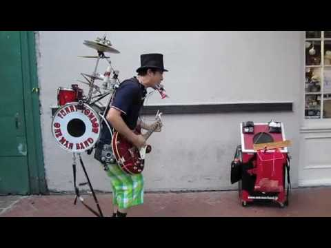 Funny Tombow One Man Band on Bourbon Street