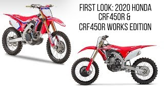 First Look: 2020 Honda CRF450R Works Edition & CRF450R