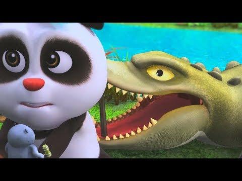 Мультики для детей - Кротик и Панда - Временная няня + Сокровища - Веселые мультфильмы для детей