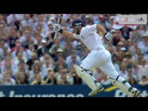 Jonathan Trott reaches Ashes hundred against Australia in 2009