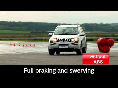 EN | Mahindra XUV500 safe braking with Bosch antilock braking system (ABS)