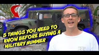 What to know before buying a Military Hummer