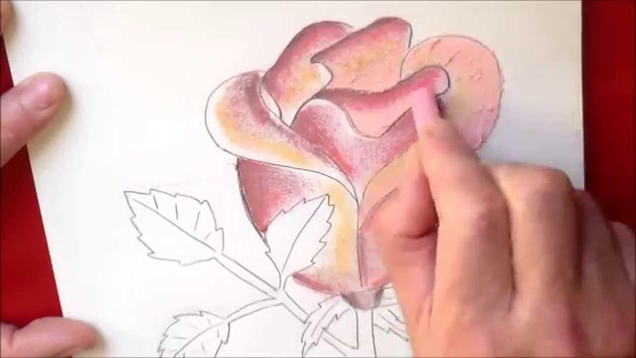 Dessin et coloriage d 39 une rose facile faire tuto - Fleurs a dessiner modele ...