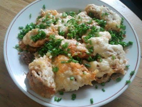 Пельмени в духовке в соусе под сыром, запечённые пельмени