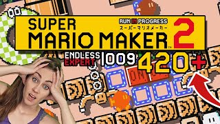 THIS IS CHAOS! ENDLESS EXPERT 009 | 420+// SUPER MARIO MAKER 2