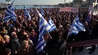 Greek Islands Stage Protest Against Migrant Pressure