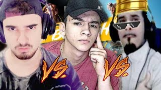 CRUSHER VS HUNTERGOD VS FALANDOJOGANDO - FREE FIRE