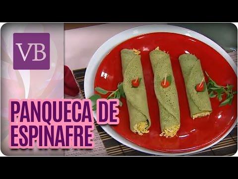 Panquecas de espinafre - Você Bonita  (24/05/16)