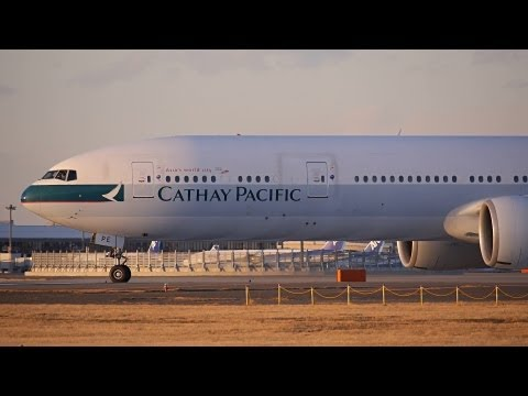 Cathay Pacific Airways Boeing 777-300ER B-KPE Takeoff from NRT 34L