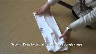 Fold short sleeved t-shirts using The KonMari Method