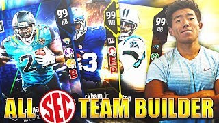 ALL SEC TEAM BUILDER! NCAA Powerhouse! Madden 18 Ultimate Team