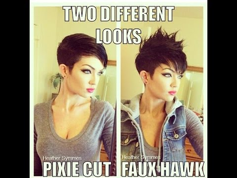 how to style a pixie haircut two different ways