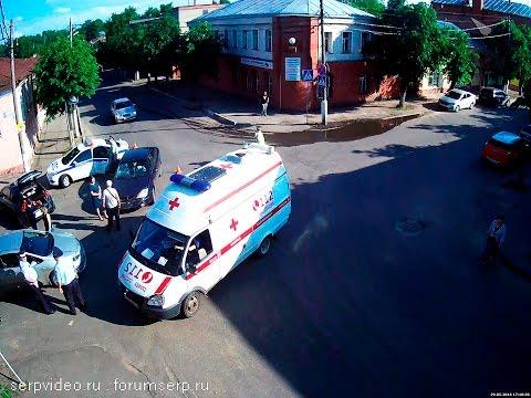 ДТП в Серпухове. Тройной удар на Citroen... 29 мая 2016г.