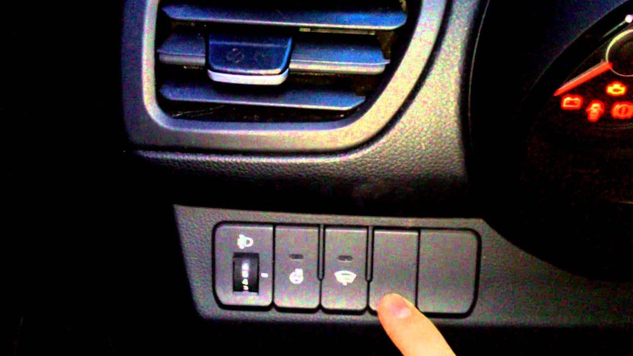 Установка птф на киа рио 2013 своими руками на кнопке