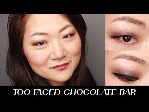 TOO FACED CHOCOLATE BAR PALETTE MAKEUP TUTORIAL FOR ASIAN MONOLID EYES I Futilities And More