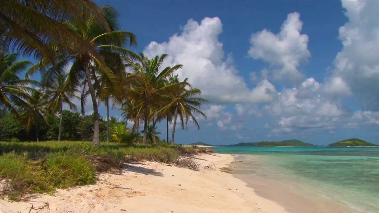 Beautiful Tobago Cays Beach Scene Filmed In The Grenadines Caribbean Youtube