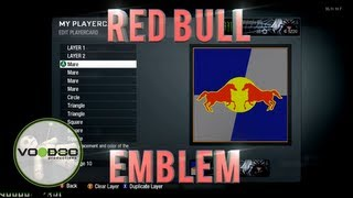 Red Bull Emblem/Logo : Call of Duty Black Ops (Emblem Editor Series) Episode 2