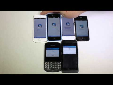 Apple iPhone 5S. 5C. 5. 4S vs Blackberry Q10. Z10 Geekbench 3 Comparison @apple @blackberry @att