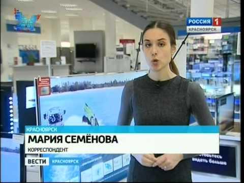 Сюжет о цифровом вещании DVB-T2 (Россия-1, Красноярск)