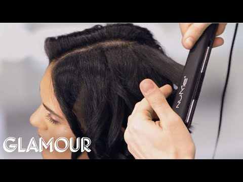 How to Curl Short Hair With a Flat Iron - Glamour's Hey Hair Genius