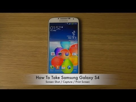 How To Take Samsung Galaxy S4 Screen Shot / Capture / Print Screen