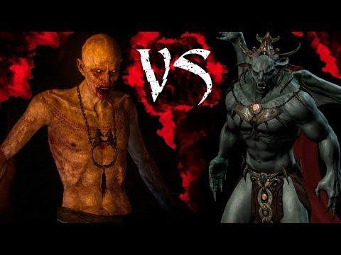 КТО СИЛЬНЕЕ #2: Скрытый VS Харкон   Skyrim   Ведьмак 3   DAMIANoNE