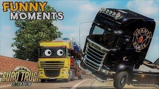 Euro Truck Simulator 2 Multiplayer Funny Moments & Crash Compilation #80