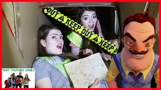 STUCK While Going Deeper In Hello Neighbors Underground Tunnels / That YouTub3 Family