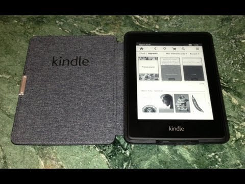 Amazon Kindle Paperwhite Review & Unboxing . Kindle Leather Cover.