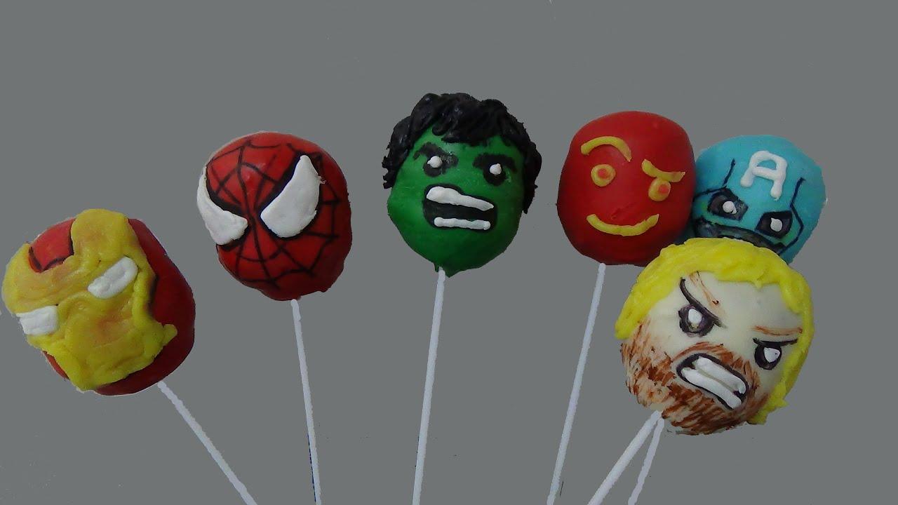 Cake Balls Pops Super Heroes Marvel Youtube