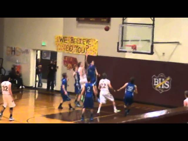 3-9-13 - Randy Baker scores from the baseline (Brush 18, Moffat County 12)