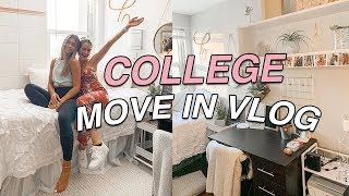 COLLEGE MOVE IN VLOG: moving my little sister into college at UNC