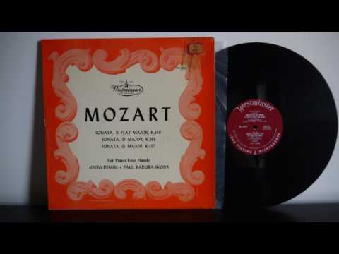 Mozart, Joerg Demus, Paul Badura Skoda ‎– Sonatas For Piano Four Hands 1950 Westminster WL 5060