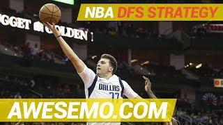 NBA DFS Strategy - Thu 3/21 - Yahoo FanDuel DraftKings - Awesemo.com
