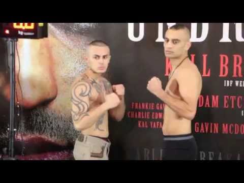NADEEM SIDDIQUE v LASZLO FEKETE - OFFICIAL WEIGH IN VIDEO FROM SHEFFIELD - 'UNBREAKABLE'