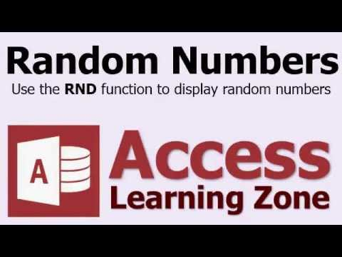 microsoft access random numbers rnd function youtube