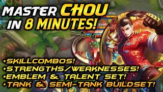 DETAILED GUIDE ON CHOU [BruceLee] | HOW TO PLAY CHOU LIKE unXpected? | Chou Tips and Tricks | MLBB