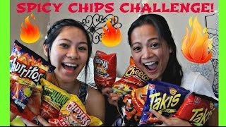 HOT SPICY CHIPS FOOD CHALLENGE with Cheetos, Chesters, Takis // TUYC Toys Unlimited
