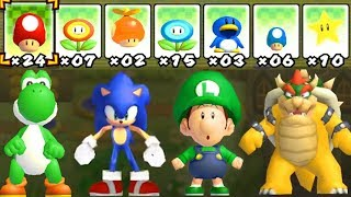 What happens when Yoshi, Sonic, Baby Luigi and Bowser uses Mario's Power-Ups?