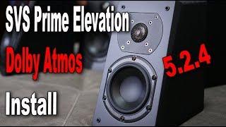 SVS Prime Elevation Dolby Atmos Speaker  Install  5.2.4