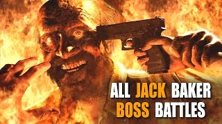 RESIDENT EVIL 7 - Ethan Vs Jack | All Jack Baker Boss Battles Compilation (RE7)