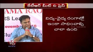 Minister KTR Answers To Journalists Questions | Meet The Press Event | Hyderabad | Part 2