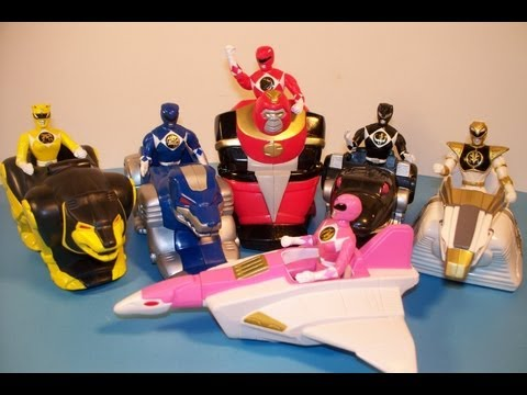 1995 Mighty Morphin Power Rangers The Movie Set Of 6 Mcdonald S Happy Meal Toy S image