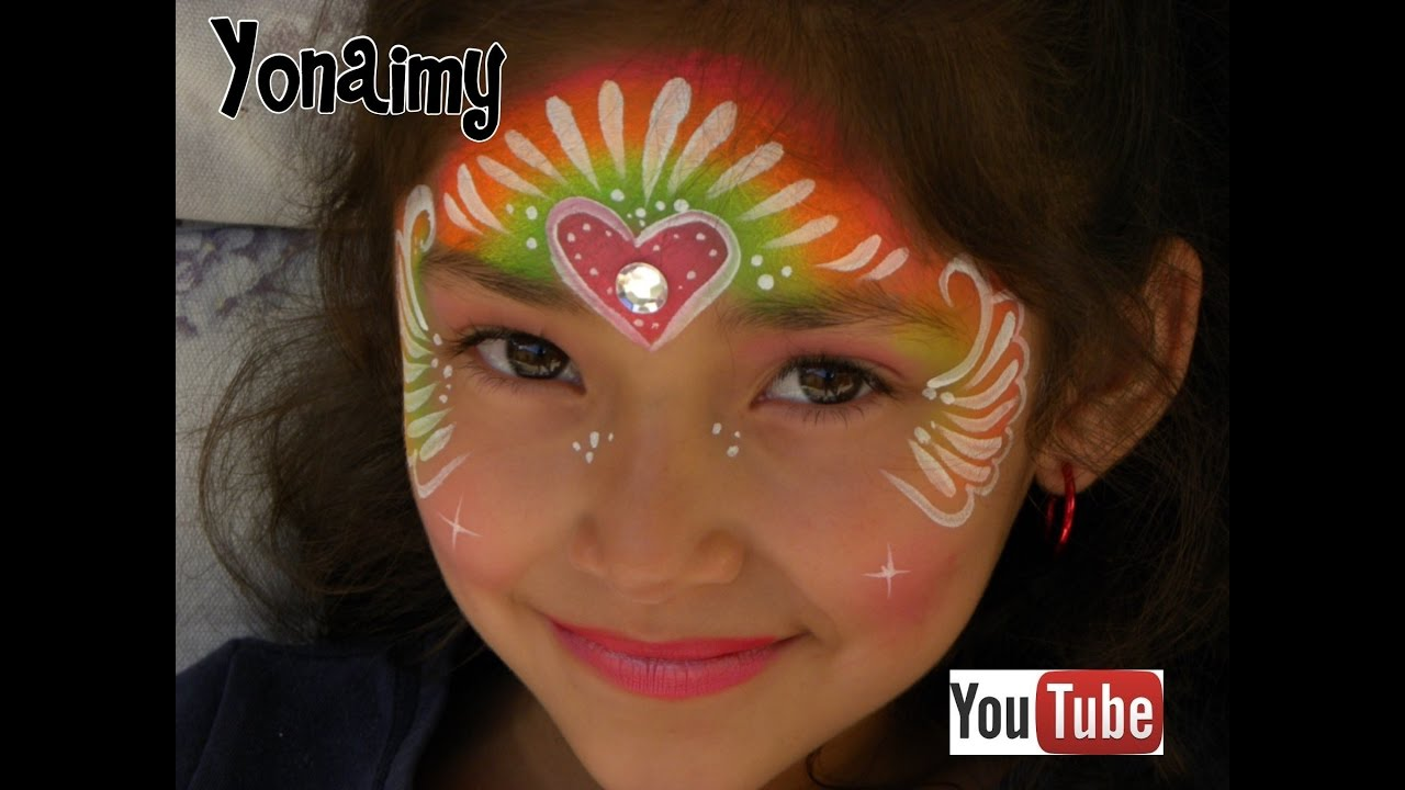 PINTACARITAS DE PRINCESA . FACE PAINTING PRINCESS . - YouTube
