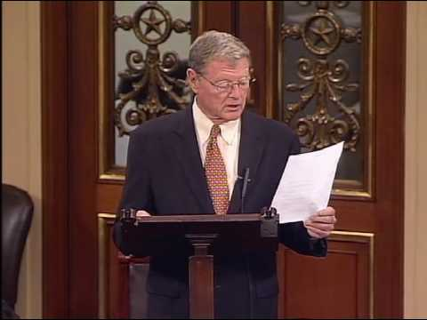 Inhofe Responds to Obama Attempt to Us Gulf Spill To Push Cap and Tax - Floor Speech