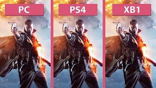 Battlefield 1 – PC Ultra vs. PS4 vs. Xbox One Alpha Graphics Comparison