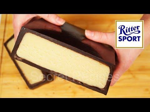 Огромная шоколадка РИТТЕР СПОРТ С МАРЦИПАНОМ. Как сделать МАРЦИПАН   Ritter Sport marzipan